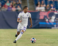 FOXBOROUGH, MA - JULY 28: Robinho #95 looks to pass during a game between Orlando City SC and New England Revolution at Gillette Stadium on July 27, 2019 in Foxborough, Massachusetts.