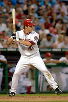 16 June 2006: Shawn Hill, pitcher for the Washington Nationals, at bat against the New York Yankees at RFK Stadium, in Washington, DC. The Yankees defeated the Nationals 7-5 in the first meeting of the two franchises...Mandatory Photo Credit: Ed Wolfstein Photo...
