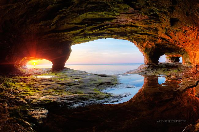 portals of light, Lake Superior seacaves, Paradise