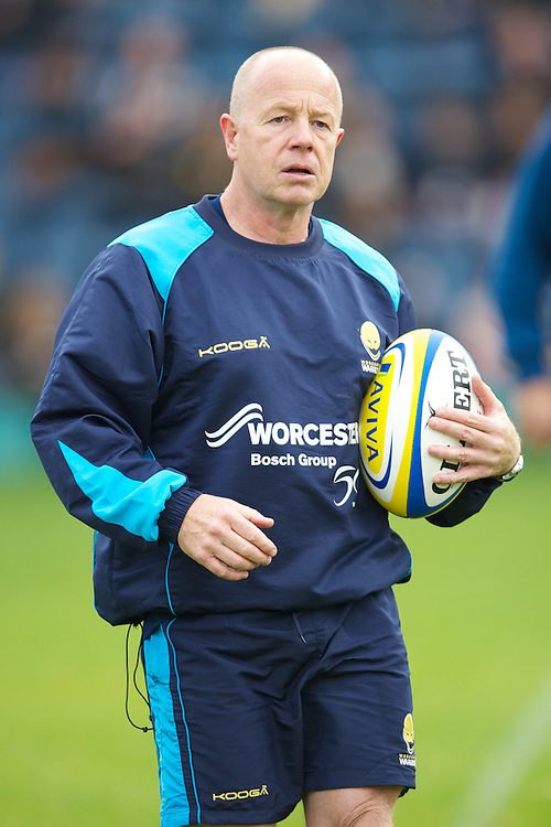 Richard Hill, Worcester Warriors Head Coach, before the Aviva Premiership match between London Wasps and Worcester Warriors at Adams Park on Sunday 7th October 2012 (Photo by Rob Munro)