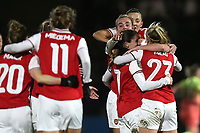Danielle van de Donk of Arsenal scores the second goal for her team and celebrates with her team mates during Arsenal Women vs Manchester City Women, FA Women's Continental League Cup Football at Meadow Park on 29th January 2020