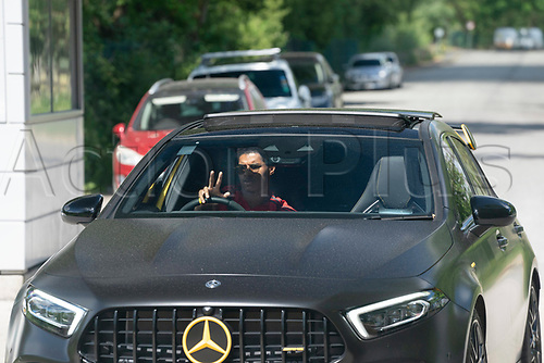 21st May 2020, Manchester, England;  Manchester United's Marcus Rashford arrives at the club s Carrington training ground for socially distanced training in Manchester, Britain on May 21, 2020. The Premier League clubs were allowed to start small-group training from Tuesday after the top-flight football league in England was suspended on March 13 due to COVID-19 outbreak.
