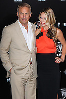 """NEW YORK, NY - JUNE 10: Kevin Costner and Christine Baumgartner attend the """"Man Of Steel"""" World Premiere at Alice Tully Hall at Lincoln Center on June 10, 2013 in New York City. (Photo by Celebrity Monitor)"""