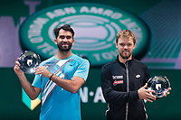 Rotterdam, The Netherlands,7 march  2021, ABNAMRO World Tennis Tournament, Ahoy,  <br /> Doubles final: runners up Kevin Krawietz (GER) / Horia Tecau (ROU).<br /> Photo: www.tennisimages.com/henkkoster