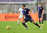 FORT LAUDERDALE, FL - DECEMBER 09: Sebastian Lletget #17 of the United States moves with the ball during a game between El Salvador and USMNT at Inter Miami CF Stadium on December 09, 2020 in Fort Lauderdale, Florida.