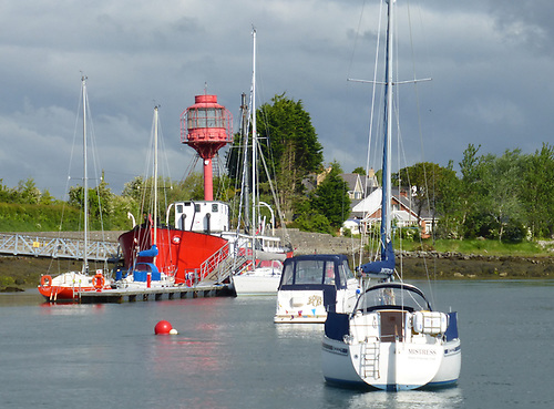 Down Cruising Club's ex-Lightship HQ has been in place at Ballydorn on Strangford Lough since 1968