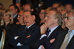 SILVIO BERLUSCONI CON PAOLO SCARONI<br /> PREMIO GUIDO CARLI - TERZA  EDIZIONE<br /> PALAZZO DI MONTECITORIO - SALA DELLA LUPA<br /> CON RICEVIMENTO  HOTEL MAJESTIC   ROMA 2012
