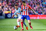 Victor Machin, Vitolo, of Atletico de Madrid (R) fights for the ball with Hugo Mallo Novegil of RC Celta de Vigo (L) during the La Liga 2017-18 match between Atletico de Madrid and RC Celta de Vigo at Wanda Metropolitano on March 11 2018 in Madrid, Spain. Photo by Diego Souto / Power Sport Images