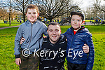 Enjoying a walk in the Tralee Town park on Tuesday, l to r: Jay Healy, Evan and Conor Lyons.