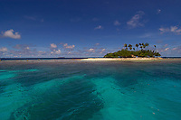 One of many small Islands surrounding the main Island of Chuuk in the Truk Lagoon in Micronesia
