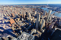 america,New York,  Manhattan, Liberty tower, WTC, landscape from the rooftop
