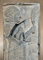 Relief panels orthostat from Sam 'al /Zincirli. Neo Syro Hittite.  Basalt around 730 BC. Vorderasiatisches Museum, Pergamon Museum, Berlin.