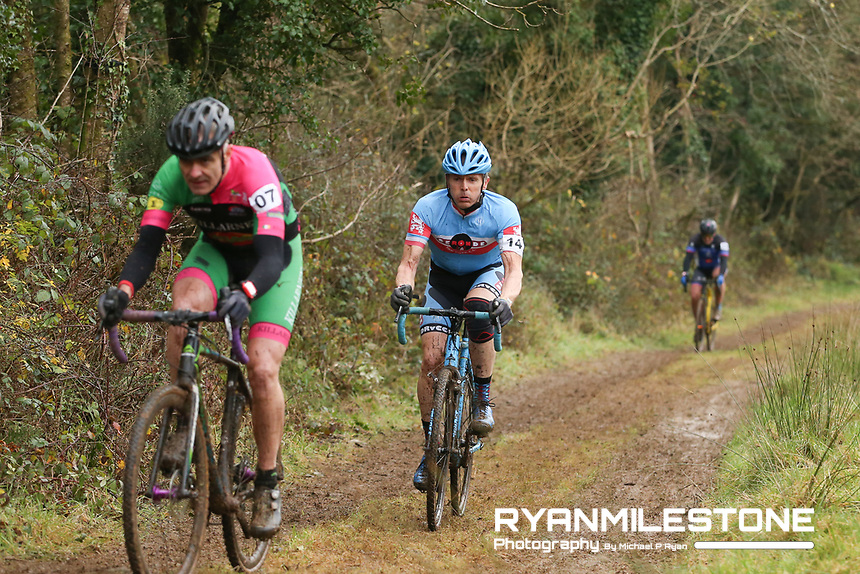 EVENT:<br /> Round 5 of the 2019 Munster CX League<br /> Drombane Cross<br /> Sunday 1st December 2019,<br /> Drombane, Co Tipperary<br /> <br /> CAPTION:<br /> Micheal Corkery of De Ronde Van Cork CC in action during the A Race - M50<br /> <br /> Photo By: Michael P Ryan