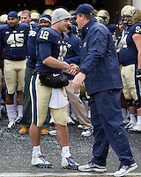 Pitt senior quarterback Tino Sunseri and head coach Paul Chryst. The Pitt Panthers defeat the Rutgers Scarlet Knights 27-6 on Saturday, November 24, 2012 at Heinz Field , Pittsburgh, PA.