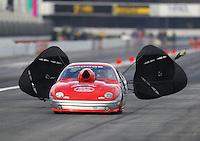 Feb 9, 2017; Pomona, CA, USA; NHRA comp eliminator driver XXXX during qualifying for the Winternationals at Auto Club Raceway at Pomona. Mandatory Credit: Mark J. Rebilas-USA TODAY Sports