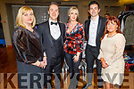 "MC Michael Lynch with the 4 judges Siobhan Murphy, Toiréasa Ferris, Aidan O'Mahoney,  and Carmel Russell at the Tralee Musical Society ""Strictly Come Dancing"" Mr and Mrs in the Ballyroe Heights Hotel on Saturday."