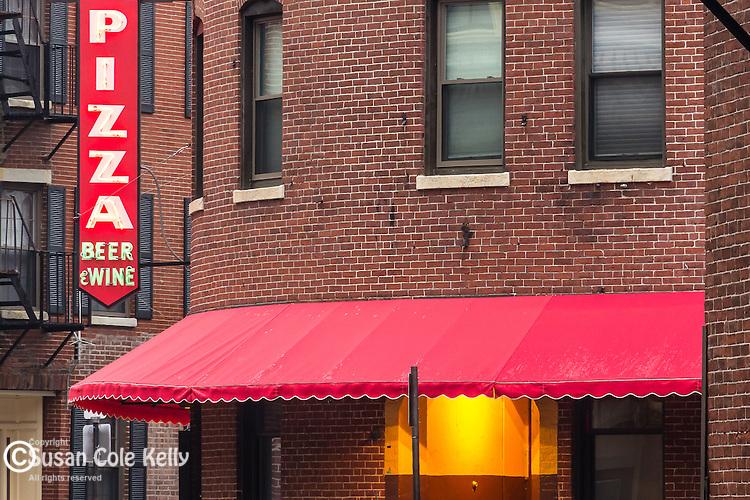 The original Regina Pizza in the North End neighborhood, Boston, Massachusetts, USA