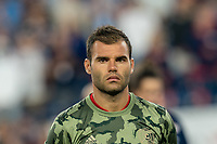 FOXBOROUGH, MA - AUGUST 24: Nemanja Nikolic #23 of Chicago Fire during a game between Chicago Fire and New England Revolution at Gillette Stadium on August 24, 2019 in Foxborough, Massachusetts.
