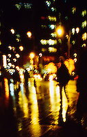 AVAILABLE FROM JEFF AS A FINE ART PRINT<br /> <br /> AVAILABLE FOR COMMERCIAL AND EDITORIIAL LICENSING EXCLUSIVELY FROM GETTY IMAGES.  Please search for image # 10163764 on www.gettyimages.com<br /> <br /> Rainy Street Scene at Night, Midtown Manhattan, New York City, New York State, USA