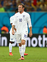 Wayne Rooney of England, starting on the left wing, rolls his sleeves up
