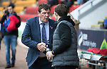 St Johnstone v Partick Thistle…29.10.16..  McDiarmid Park   SPFL<br />Tommy Wright and Alan Archibald shake hands before kick off<br />Picture by Graeme Hart.<br />Copyright Perthshire Picture Agency<br />Tel: 01738 623350  Mobile: 07990 594431