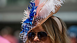 LOUISVILLE, KY - MAY 03: a woman wears a feather fascinator on Thurby at Churchill Downs on May 3, 2018 in Louisville, Kentucky. (Photo by Scott Serio/Eclipse Sportswire/Getty Images)