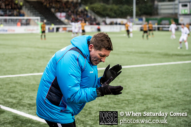 Maidstone United 1 Sutton United 0, 17/03/2018. The Gallagher Stadium, National League. Attendance: 2,065. Maidstone assistant manager Nicky Southall. Photo by Simon Gill.