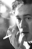 August 2003 file photo - <br /> Canadian actor Roy Dupuis (Nikita TV serie, ...)<br /> smoke a cigarette on the set on JACK PARADISE , a movie about a Montreal jazzman during the 1940's