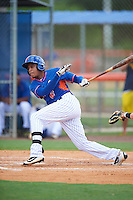 GCL Mets right fielder Wagner Lagrange (6) at bat during a game against the GCL Marlins on August 12, 2016 at St. Lucie Sports Complex in St. Lucie, Florida.  GCL Marlins defeated GCL Mets 8-1.  (Mike Janes/Four Seam Images)