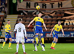 Dunfermline v St Johnstone…15.12.20   East End Park      BetFred Cup<br />Liam Craig gets above Declan McManus<br />Picture by Graeme Hart.<br />Copyright Perthshire Picture Agency<br />Tel: 01738 623350  Mobile: 07990 594431
