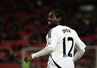 Pictured: Nathan Dyer of Swansea celebrating his goal. Saturday 07 January 2012<br /> Re: FA Cup football Barnsley FC v Swansea City FC at the Oakwell Stadium, south Yorkshire.