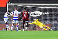 Lucas Joao of Reading left scores from the penalty spot for the first goal during AFC Bournemouth vs Reading, Sky Bet EFL Championship Football at the Vitality Stadium on 21st November 2020