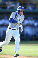 David Leiderman (24) of the Hofstra Pride runs the bases during a game against the UCLA Bruins at Jackie Robinson Stadium on March 14, 2015 in Los Angeles, California. UCLA defeated Hofstra, 18-1. (Larry Goren/Four Seam Images)