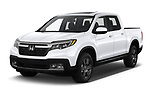 2020 Honda Ridgeline RTL-E 4 Door Pick-up Angular Front automotive stock photos of front three quarter view