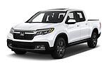 2020 Honda Ridgeline RTL-E 4 Door Pick-up Angular Front automotive stock photos of front three quarter view