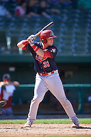 Peoria Chiefs catcher Brian O'Keefe (32) at bat during the second game of a doubleheader against the South Bend Cubs on July 25, 2016 at Four Winds Field in South Bend, Indiana.  South Bend defeated Peoria 9-2.  (Mike Janes/Four Seam Images)