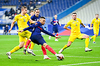 24th March 2021; Stade De France, Saint-Denis, Paris, France. FIFA World Cup 2022 qualification football; France versus Ukraine;  MBAPPE KYLIAN (France) cuts the ball back against Vitaliy Mykolenko (Ukraine)