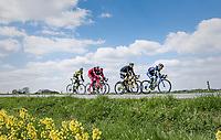 early breakaway group<br /> <br /> 81st La Flèche Wallonne (1.UWT)<br /> One Day Race: Binche › Huy (200.5km)