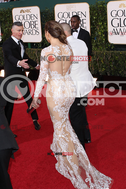 BEVERLY HILLS, CA - JANUARY 13: Jennifer Lopez at the 70th Annual Golden Globe Awards at the Beverly Hills Hilton Hotel in Beverly Hills, California. January 13, 2013. Credit MediaPunch Inc. /NortePhoto