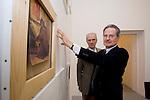 Brescia Galleria Minini, 20/11/2007.Giulio Paolini, arte con il gallerista Massimo Minini