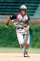 First baseman Ryan Ripken #20 of Gilman School in Baltimore, Maryland during the Under Armour All-American Game at Wrigley Field on August 13, 2011 in Chicago, Illinois.  Ryan is the son of Hall of Fame shortstop Cal Ripken and nephew of Billy Ripken.  (Mike Janes/Four Seam Images)