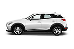 Car Driver side profile view of a 2015 Mazda CX-5 Skycruise 5 Door Suv Side View