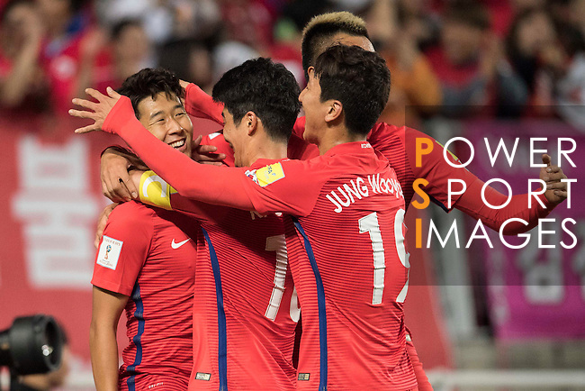 Korea Republic vs Qatar during the 2018 FIFA World Cup Russia Final Qualification Round Group A match at Suwon World Cup Stadium on 06 October 2016, in Suwon, South Korea. Photo by Victor Fraile / Power Sport Images