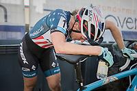 Katie Compton (USA/KFC Racing p/b Trek/Panache) post-finish<br /> <br /> Elite Women's Race<br /> CX Super Prestige Zonhoven 2017