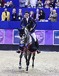 OMAHA, NEBRASKA - APR 1: Nicola Philippaerts wins the International Omaha Jumping Grand Prix aboard H&M Harley vd Bisschop at the CenturyLink Center on April 1, 2017 in Omaha, Nebraska. (Photo by Taylor Pence/Eclipse Sportswire/Getty Images)