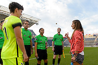 Chicago, IL - Sunday Sept. 04, 2016: Julianne Sitch prior to a regular season National Women's Soccer League (NWSL) match between the Chicago Red Stars and Seattle Reign FC at Toyota Park.