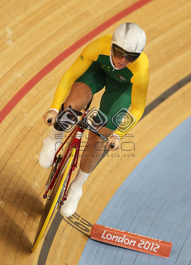 Susan Powell (AUS) competes in the Women's C4 Individual Pursuit.<br /> Track Cycling, Velodrome, Olympic Park (Thursday 29th Aug)<br /> Paralympics - Summer / London 2012<br /> London England 29 Aug - 9 Sept <br /> © Sport the library/Joseph Johnson