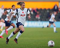 Ria Percival of Tottenham on the ball during Tottenham Hotspur Women vs Reading FC Women, Barclays FA Women's Super League Football at the Hive Stadium on 7th November 2020