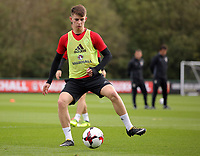 Pictured: Ben Woodburn. Monday 02 October 2017<br />Re: Wales football training, ahead of their FIFA Word Cup 2018 qualifier against Georgia, Vale Resort, near Cardiff, Wales, UK.
