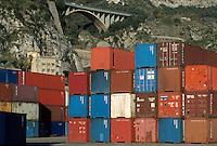 - containers terminal in Salerno harbor....- terminal containers nel porto di Salerno
